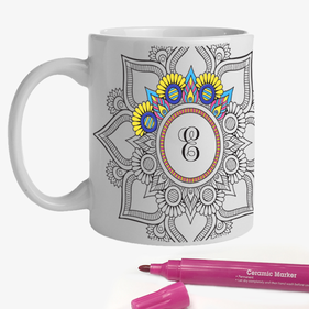 Mandala Add Color Custom Ceramic Mug