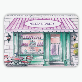 Melissa's Bakery Personalized Floor Mat