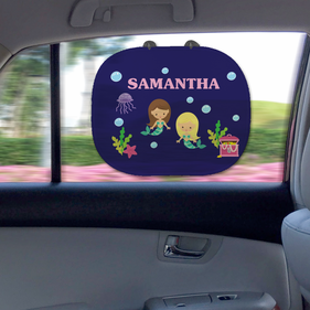 Mermaids Custom Name Sunshade