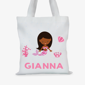 Mermaid Princess Custom Girls Tote Bag