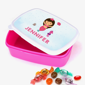 Mermaid Princess Personalized Girls Plastic Lunch Box