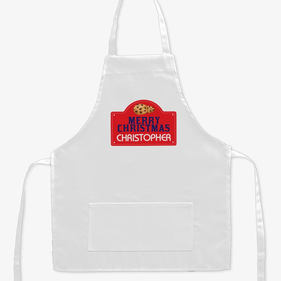 Merry Christmas Personalized Kids Apron