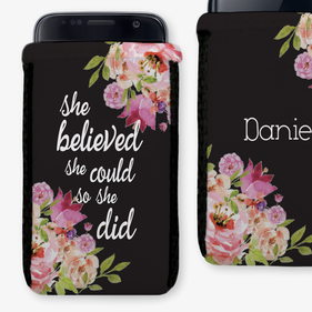 Midnight Garden Personalized Phone Pouch