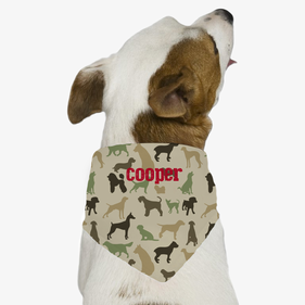 Midnight Personalized Dog Bandana