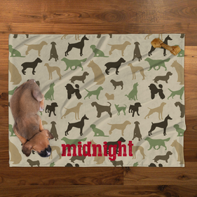 Midnight Personalized Plush Pet Blanket