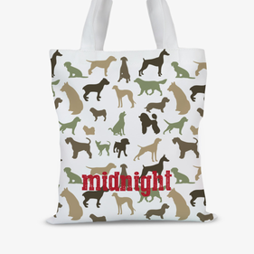 Midnight Personalized Pet Tote Bag