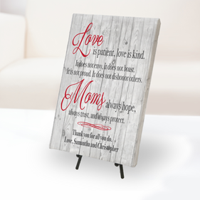 Mom's Love Personalized Canvas Print