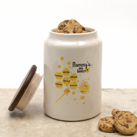 Mommy's Little Honeys Personalized Honey Bee Cookie Jar