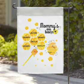 Mommy's Little Honeys Personalized Honey Bee Garden Flag