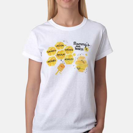 Mommy's Little Honeys Personalized Honey Bee T-Shirt