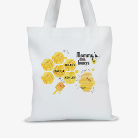 Mommy's Little Honeys Personalized Tote Bag
