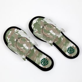 Monogram Camouflage Adjustable House Slippers