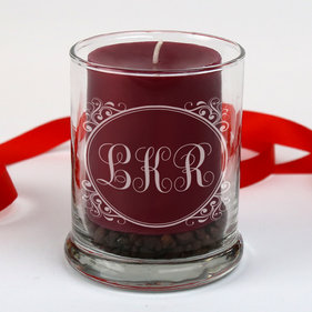 Monogram Candle Holder