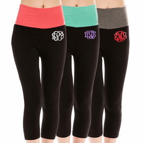 Monogram Capri Leggings