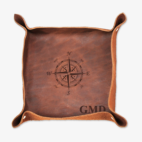 Monogram Compass Genuine Leather Stash Tray