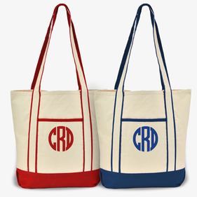 Monogram Cotton Tote Bag