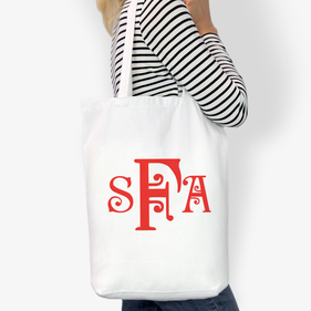 Monogram Custom Cotton Tote Bag