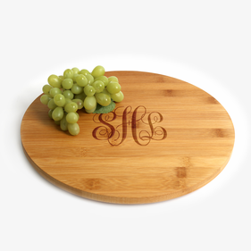 Monogram Customized Bamboo Lazy Susan