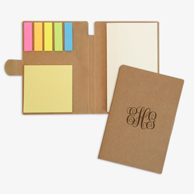 Monogram Eco Friendly Sticky Note Jotter Set
