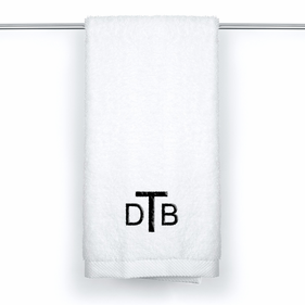 Monogram Egyptian Cotton Custom Hand Towel