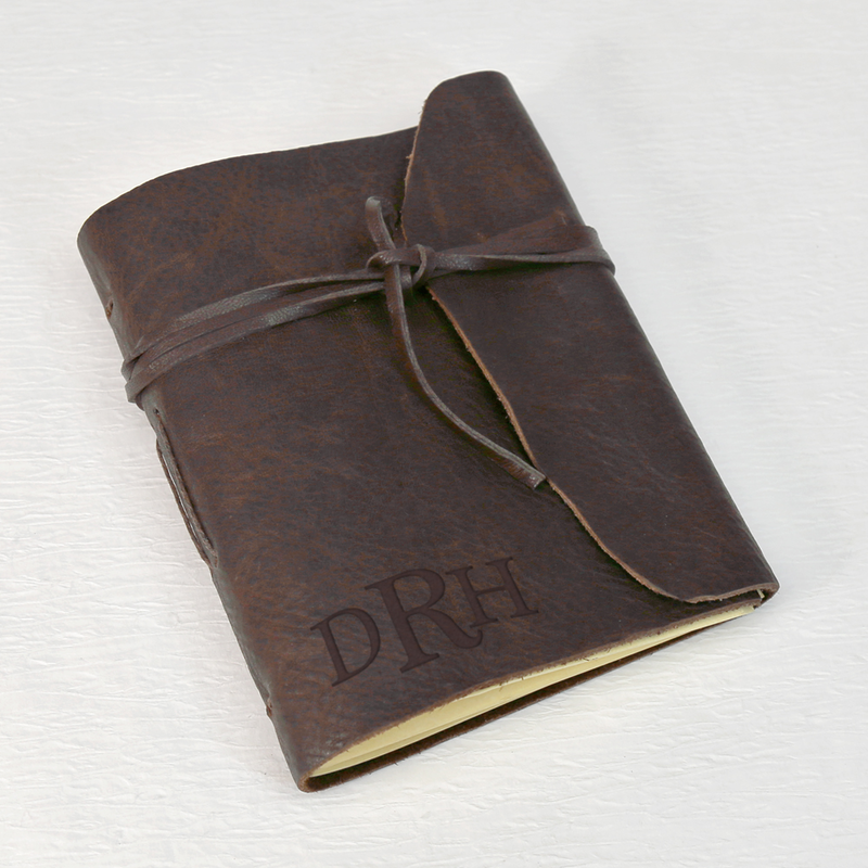 Monogram Gifts Genuine Leather Bound Wrap Journal Buy Now