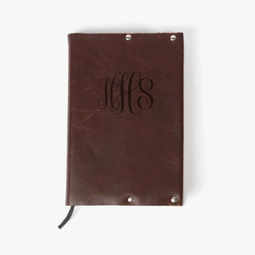 Monogram Genuine Leather Bible Cover