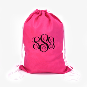 Monogram Kids Summer Fun Drawstring Bag
