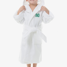 Monogram Kids Terry Hooded Bathrobe