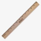 Monogram Natural Finish Wood Ruler