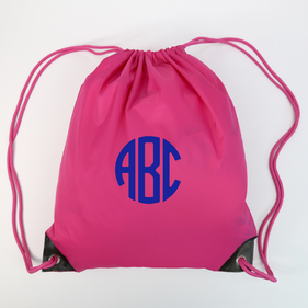 Monogram Oxford Nylon Drawstring Bag Cinch Pack