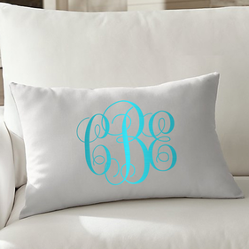 Monogram Personalized Lumbar Pillowcase