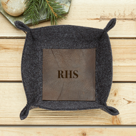 Monogram Felt Stash Tray with Leather Insert