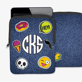 Monogram Treats Book iPad/Tablet/Laptop Sleeve