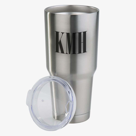 Monogram Vacuum Insulated Tumbler w/ Clear Lid