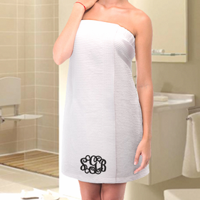 Exclusive Sale - Monogram Waffle Bath Wrap Towel