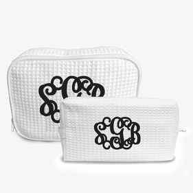 Exclusive Sale - Monogram Waffle Makeup Bag