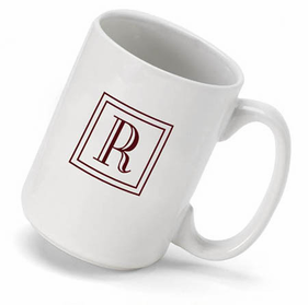 Personalized Mug with Monogram Initial