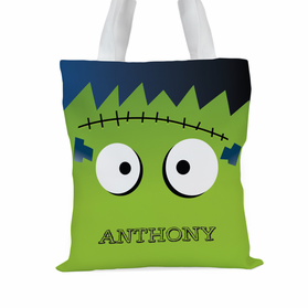Monster Personalized Large Trick or Treat Tote Bag