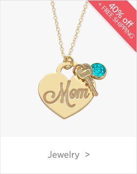 Mother's Day Jewelry - use code XOXO40 for 40% Off + Free Shipping