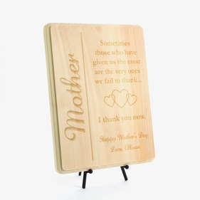 Mother's Day Personalized Wood Plaque