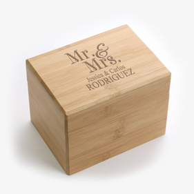 Mr. & Mrs. Personalized Recipe Box