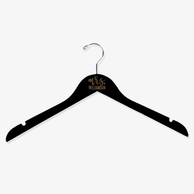 Mr / Mrs Personalized Wooden Hanger
