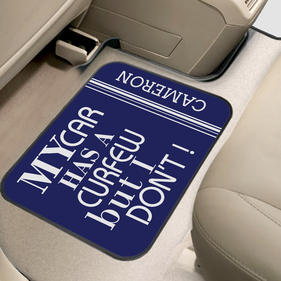 My Car Has A Curfew But I Don't Custom Back Car Mat