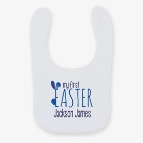 Flash Sale - My First Easter Personalized Baby Bib