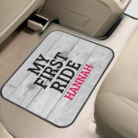 My First Ride Custom Back Car Mat