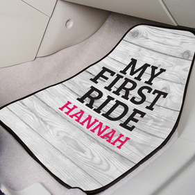 My First Ride Custom Front Car Mat