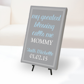 My Greatest Blessing Custom Canvas Print