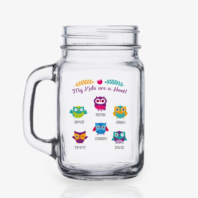 My Kids Are A Hoot Personalized Mason Jar