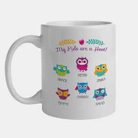 My Kids Are A Hoot Personalized Mug