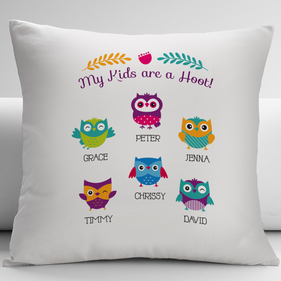 My Kids Are A Hoot Personalized Pillow Cushion Cover